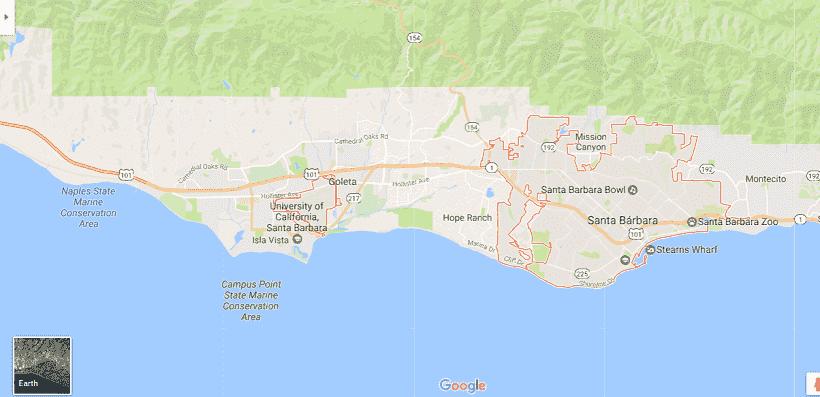 Onde Ficar Em Santa Bárbara: Mapa