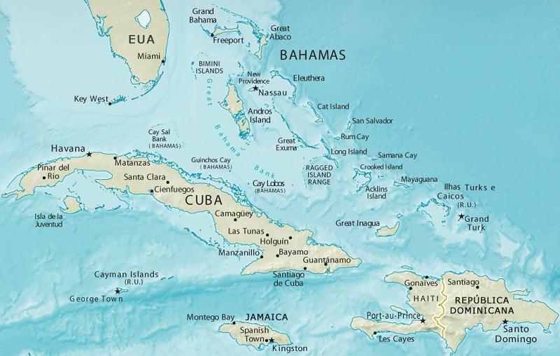 Onde Ficar em Bahamas: Mapa