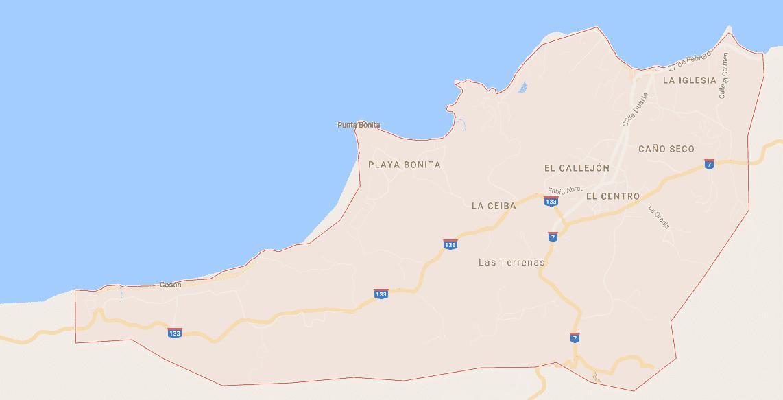 Onde Ficar em Las Terrenas: Mapa