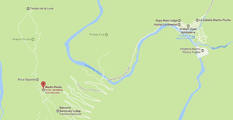 Onde Ficar em Machu Picchu: Mapa