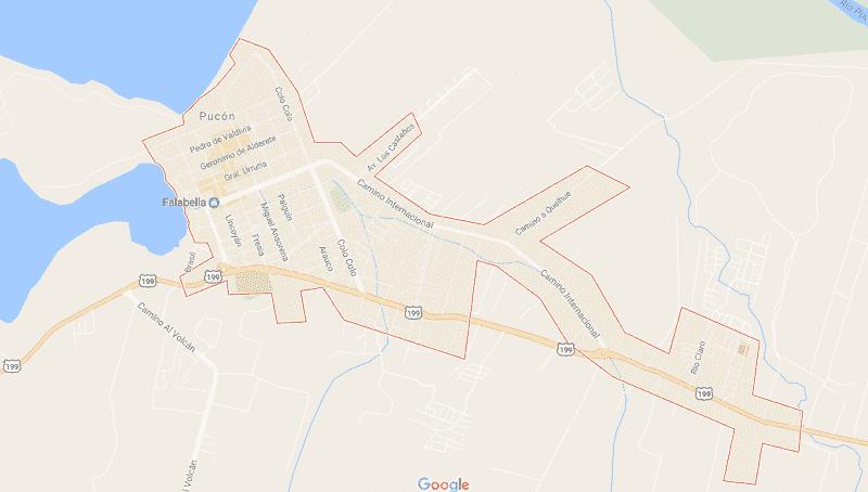 Onde Ficar em Pucón: Mapa
