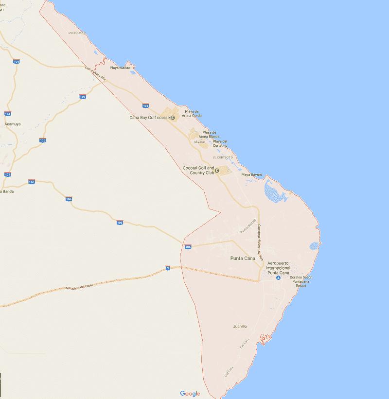 Onde Ficar em Punta Cana: Mapa
