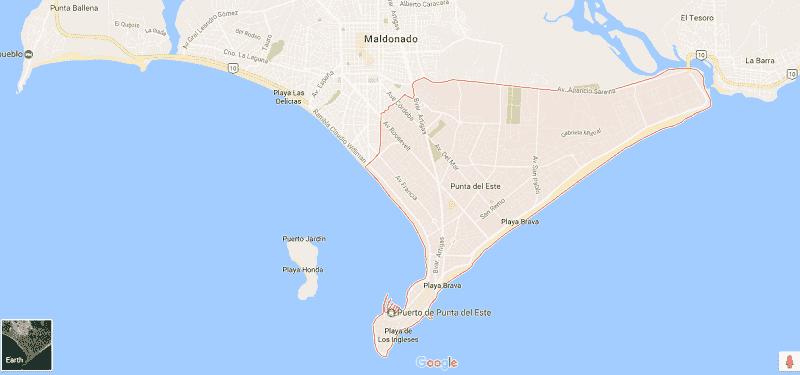 Onde Ficar em Punta Del Este: Mapa