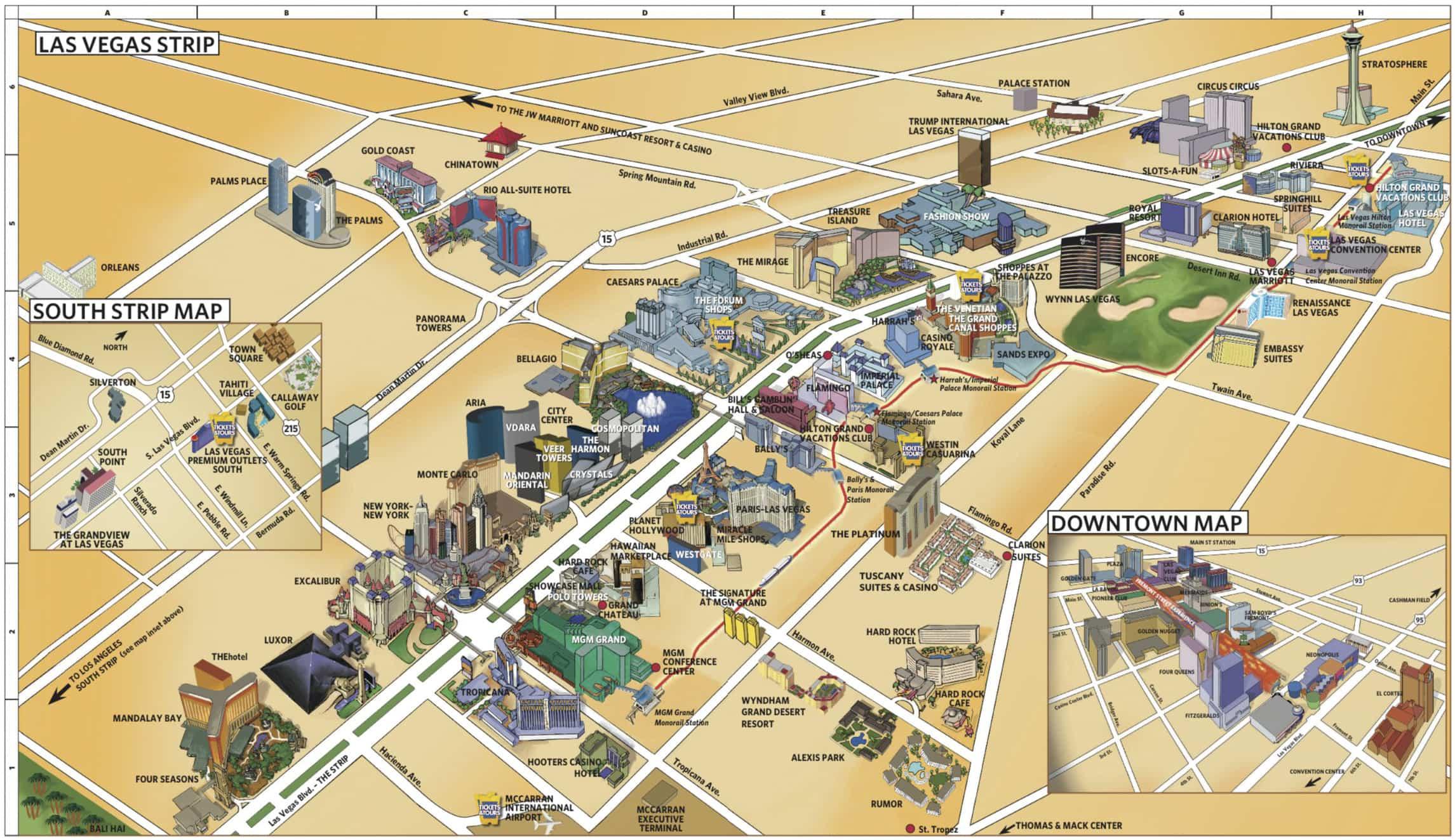 Mapa de Las Vegas: Onde ficar em Las Vegas