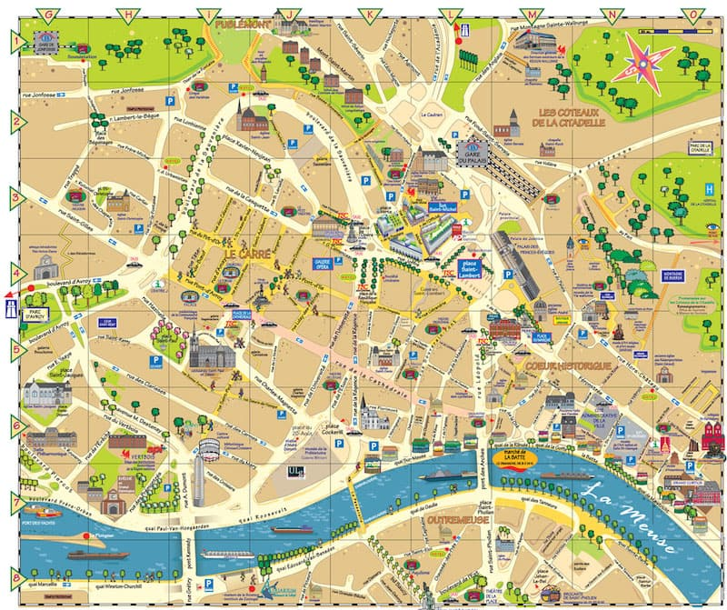 Onde Ficar em Liège na Bélgica: Mapa