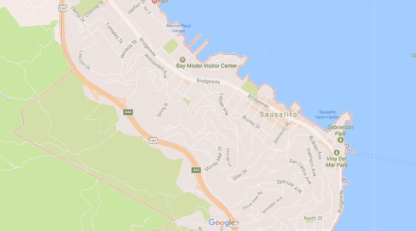 Onde Ficar Em Sausalito: Mapa