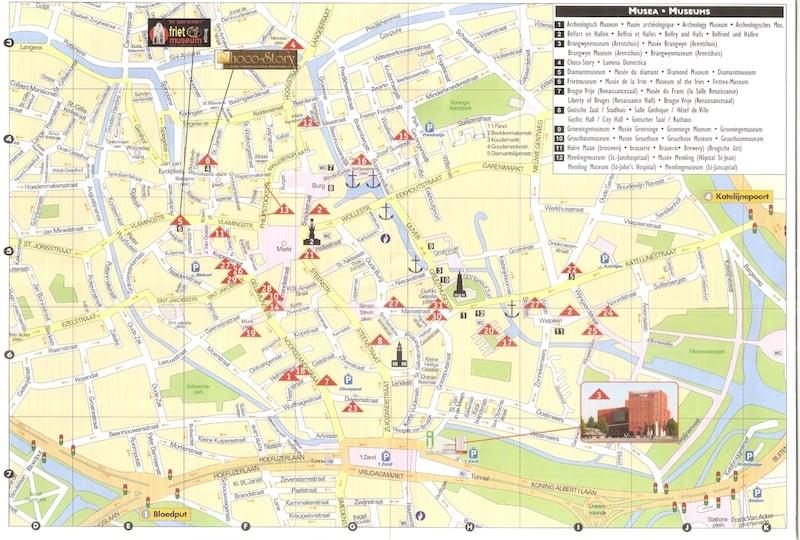 Onde Ficar Em Bruges Na Bélgica: Mapa