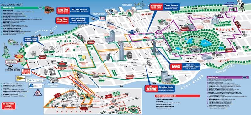 Onde Ficar em Nova York: Mapa