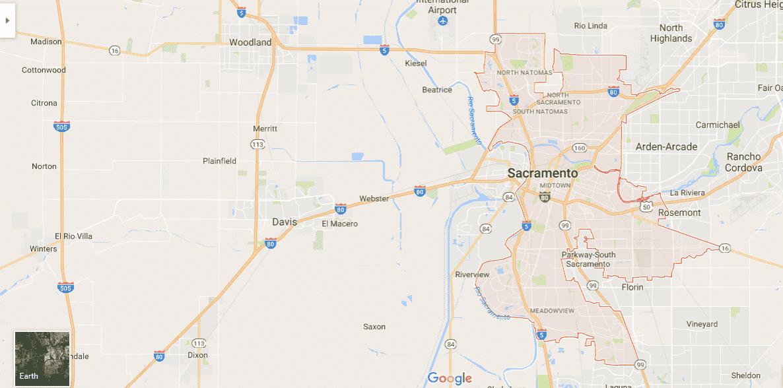 Onde Ficar Em Sacramento: Mapa