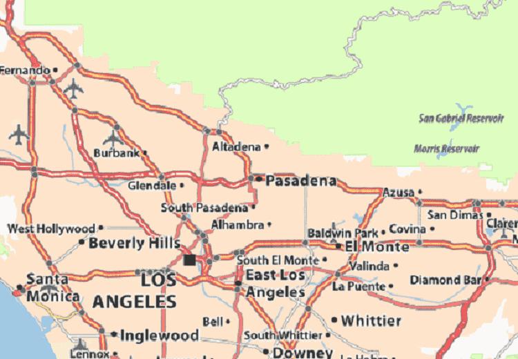 Onde Ficar Em Pasadena: Mapa