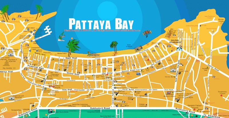 Onde Ficar Em Pattaya: Mapa