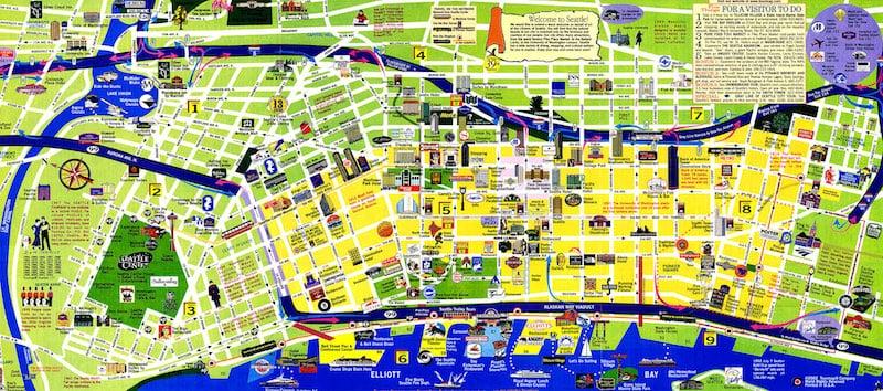 Onde Ficar Em Seattle: Mapa