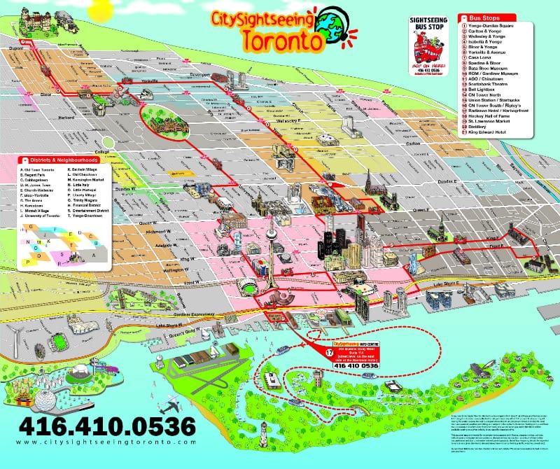Onde Ficar Em Toronto: Mapa