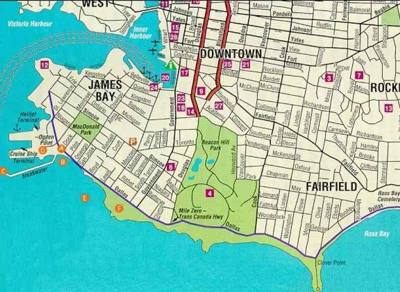 Onde Ficar Em Victoria: Mapa