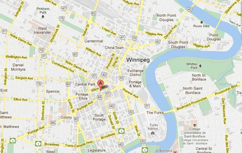 Onde Ficar Em Winnipeg: Mapa