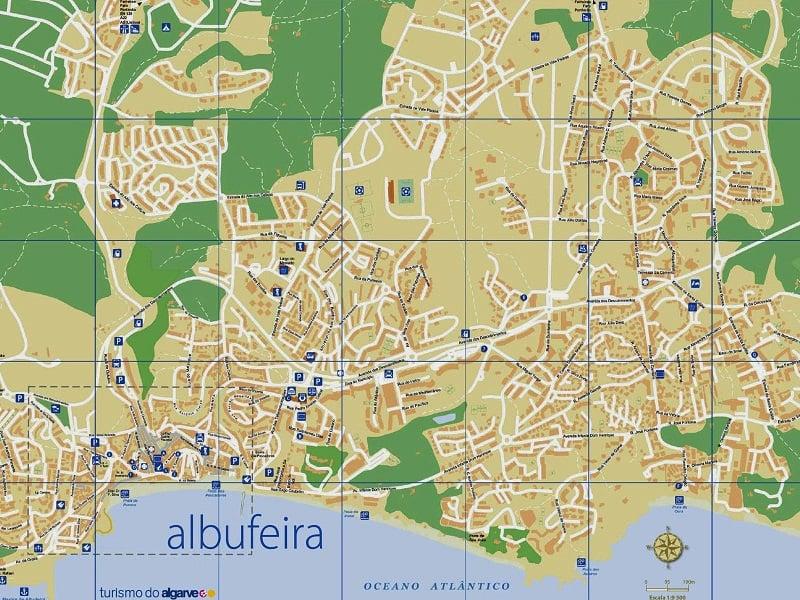 Onde Ficar em Albufeira: Mapa