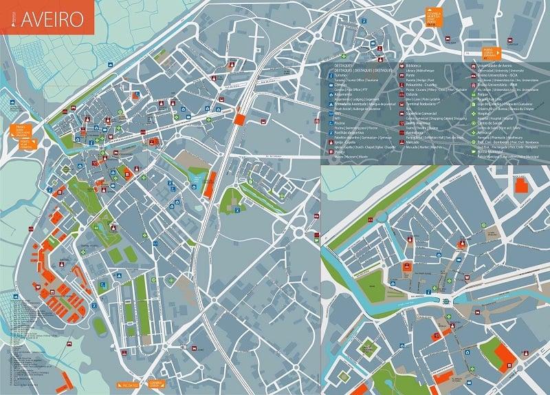 Onde Ficar em Aveiro: Mapa