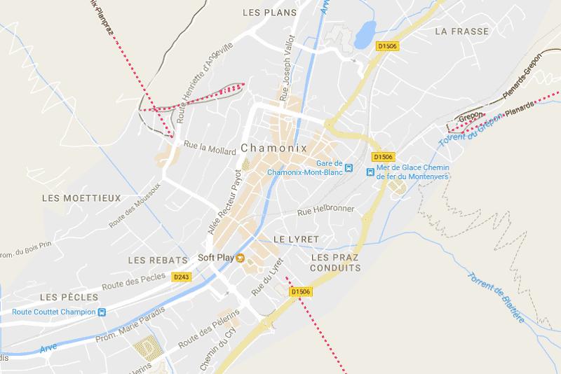 Onde Ficar em Chamonix: Mapa