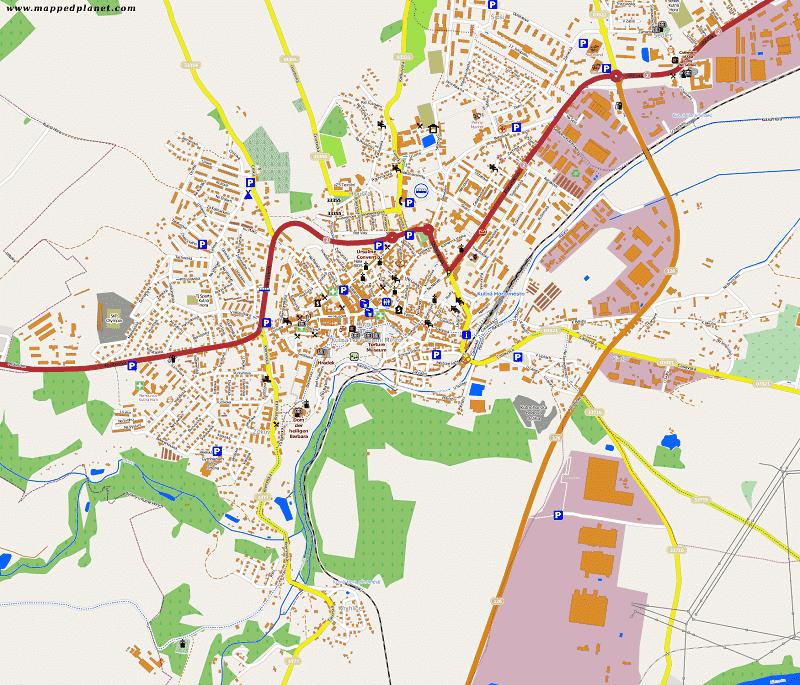 Onde Ficar em Kutná Hora: Mapa