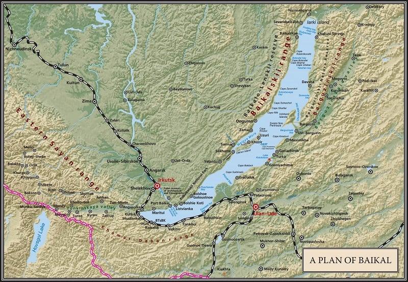 Onde Ficar no Lago Baikal: Mapa