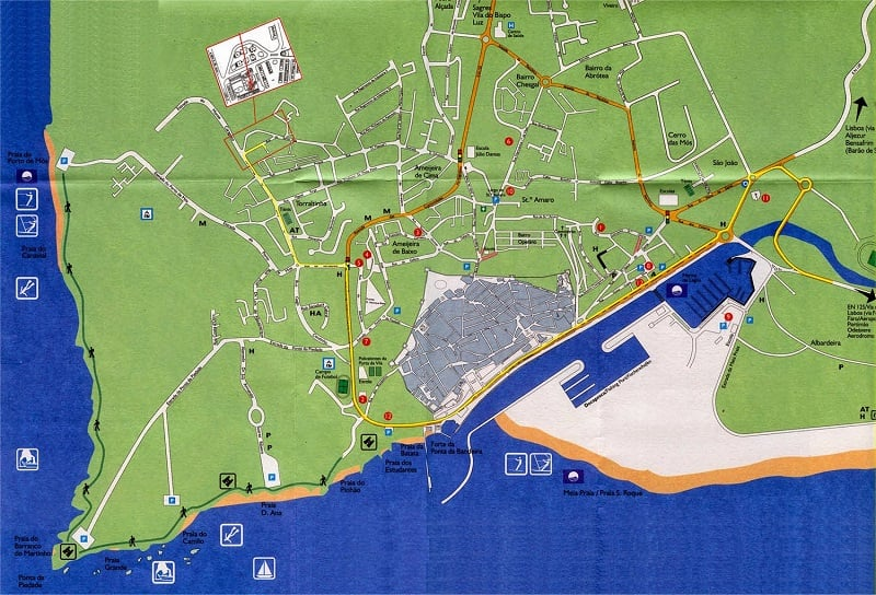 Onde Ficar em Lagos: Mapa