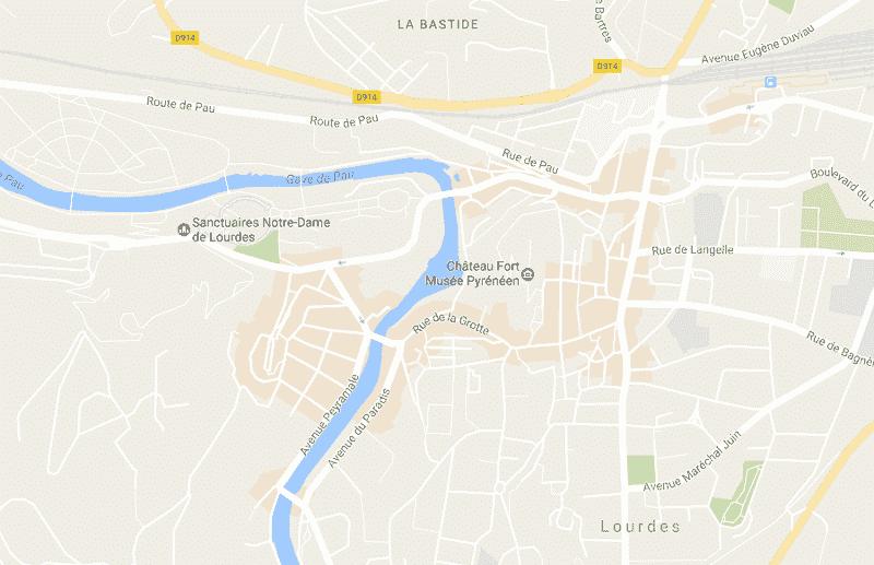 Onde Ficar em Lourdes: Mapa