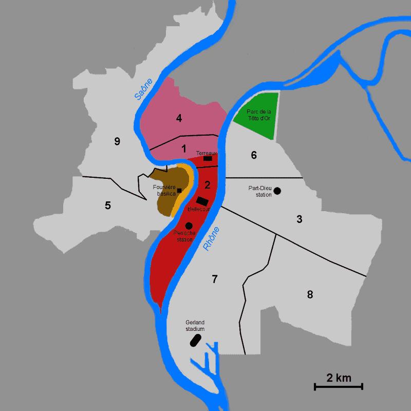 Onde Ficar em Lyon: Mapa