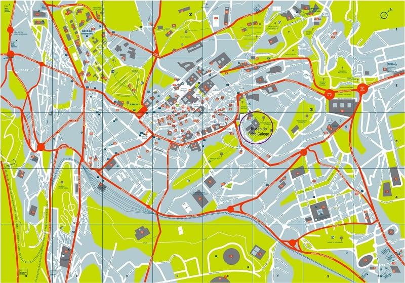 Onde Ficar em Santiago de Compostela: Mapa