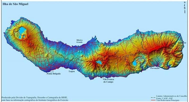 Onde Ficar em São Miguel: Mapa