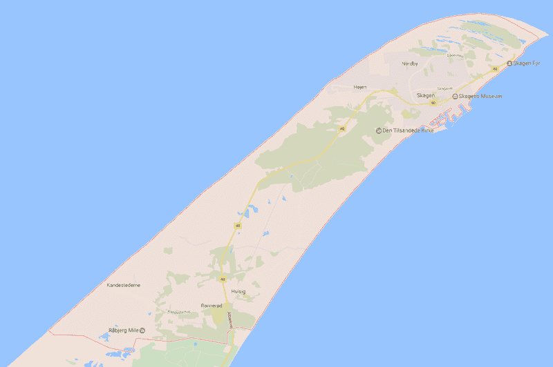 Onde Ficar em Skagen na Dinamarca: Mapa