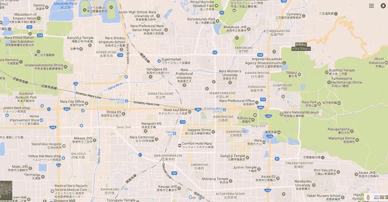 Onde Ficar em Nara: Mapa