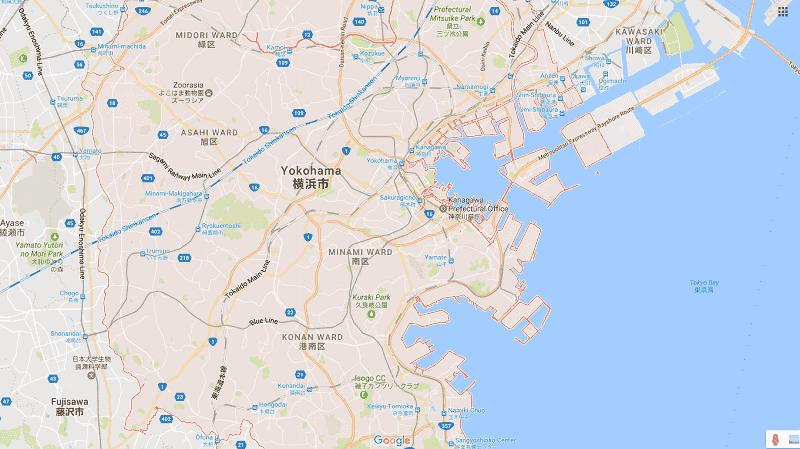 Onde Ficar em Yokohama: Mapa