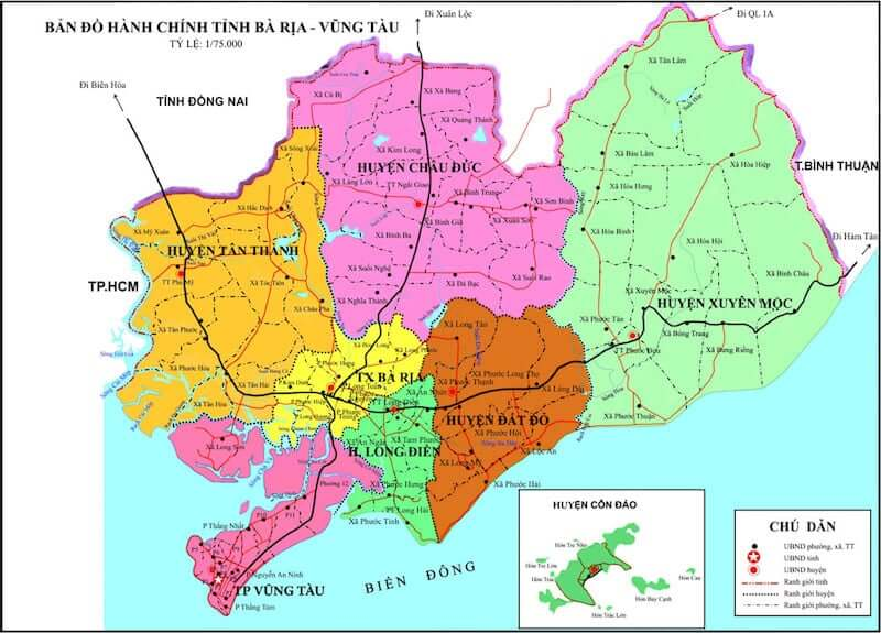Onde Ficar em Vung Tau no Vietnã: Mapa