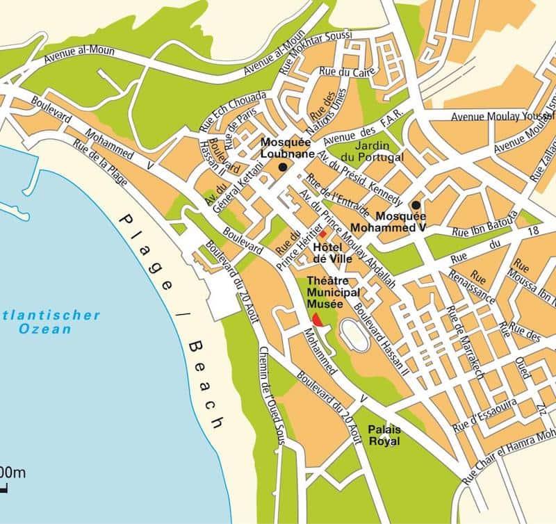 Onde Ficar em Agadir no Marrocos: Mapa