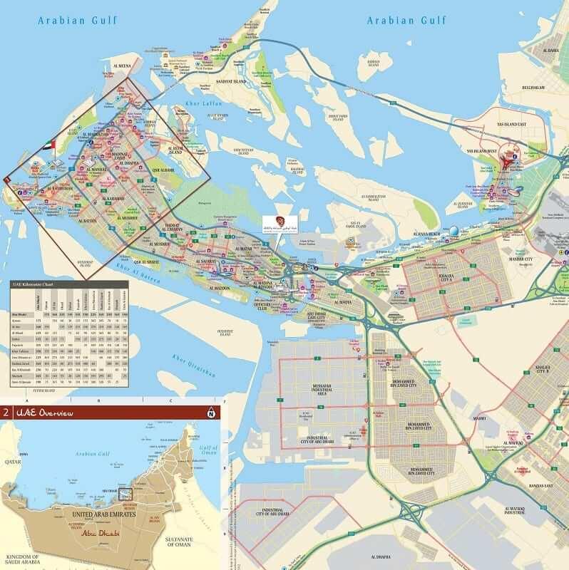 Onde Ficar em Abu Dhabi: Mapa