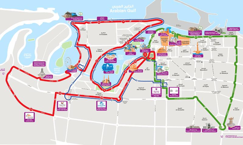 Onde Ficar em Sharjah: Mapa