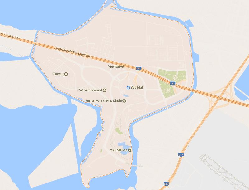 Onde Ficar em Yas Island: Mapa